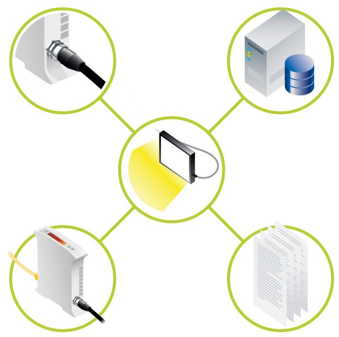 Illustration of easy maintenance of Machine Vision lighting, using the Triniti Intelligent lighting platform from Gardasoft Vision